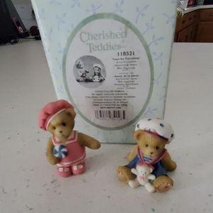 Cherished teddies avon exclusive 2 bears